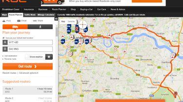 RAC Route Planner