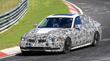 BMW 3 Series - track spyshot front