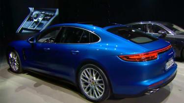 Porsche Panamera - studio rear blue