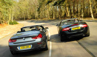 BMW 6-Series vs Jaguar XK twin