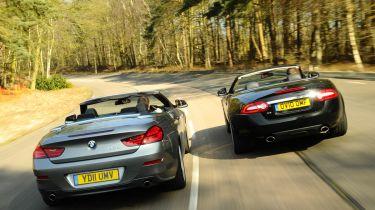 BMW 6-Series vs Jaguar XK twin