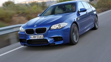 The M5 has supercar performance combined with a saloon car package.