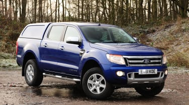 Ford Ranger front view with enclosed bed