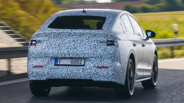 Skoda Enyaq iV coupe prototype - rear cornering