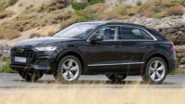 2018 Audi Q8 spy shot front quarter