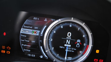 A digital rev counter has been employed to keep up with the LFA's engine.
