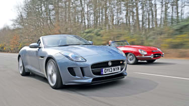Jaguar F-Type vs E-Type