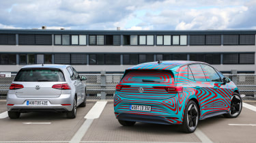 Volkswagen ID.3 vs Volkswagen e-Golf - rear static