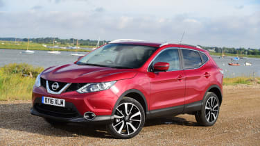 MG GS vs rivals - Nissan Qashqai front three quarter