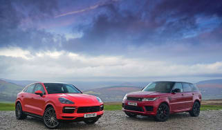 Porsche Cayenne Coupe vs Range Rover HST - twin test