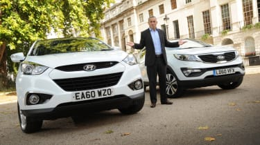 Hyundai ix35 and Kia Sportage