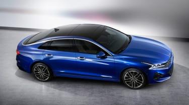 Kia Optima - blue front