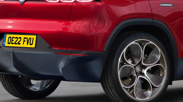 Alfa Romeo baby SUV - rear detail (watermarked)