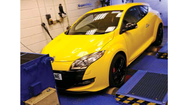 Superchips Renaultsport Megan rolling road