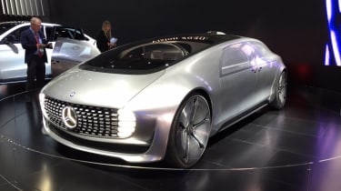 "<p class=""p1"">Mercedes gave us a glimpse of the future with its weird and wonderful F 015 concept car – first revealed at the 2015 CES show in Las Vegas. It's over five metres long and two metres wide, with a huge 3.6m wheelbase – ensu"