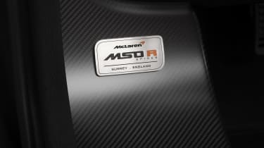 McLaren MSO R Spider plaque