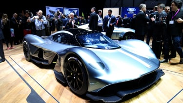 Aston Martin Valkyrie show - front