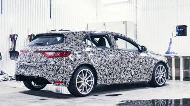 New Megane RS cold weather teaser - rear
