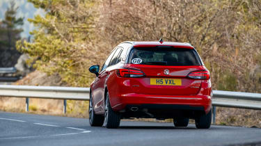 New Vauxhall Astra Sports Tourer - rear cornering