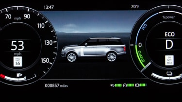 New Range Rover PHEV 2017 review - dash