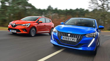 Peugeot 208 vs Renault Clio - head-to-head
