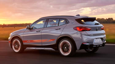 BMW X2 M Mesh Edition - rear sunset