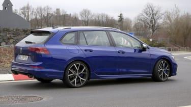 Volkswagen Golf R estate spy - side