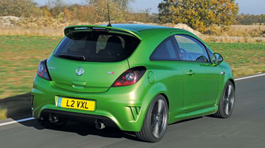 Vauxhall Corsa VXR Nurburgring Edition rear tracking