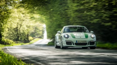 Porsche 911 R - front trees