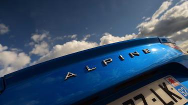 Alpine A110 - rear badge