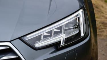 Audi A4 long-term test - front light detail