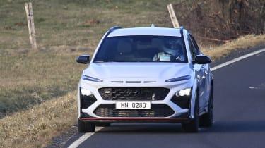 New 2021 Hyundai Kona N spied undisguised - front