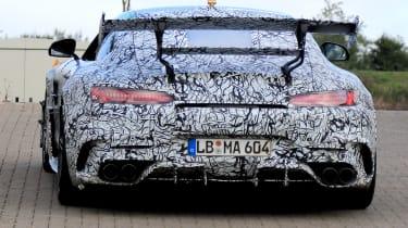 Mercedes AMG GT R Black Series - rear tracking spy