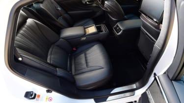 Lexus LS 500h 2018 review - interior rear seats