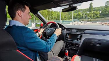 Skoda Atero Lawrence driving