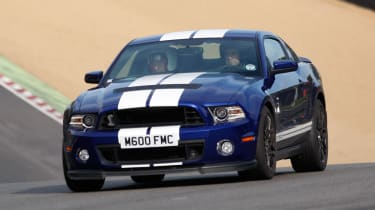 Ford Mustang Shelby GT500 front tracking
