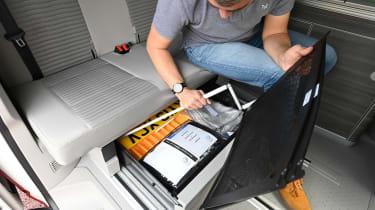 Volkswagen California Ocean long termer - first report under seat storage