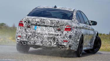 BMW M5 prototype - rear action