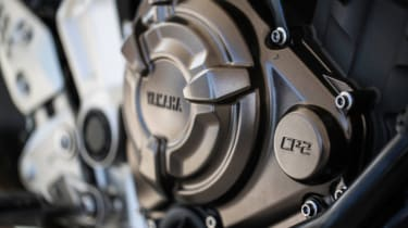 Yamaha MT-07 review - engine close up