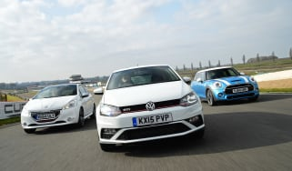 VW Polo GTI vs MINI Cooper S & Peugeot 208 GTi