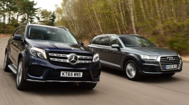 Mercedes GLS vs Audi Q7 - header