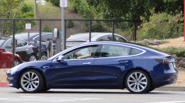 Tesla Model 3 spy shots