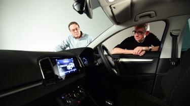 Skoda Karoq meets its customers - interior