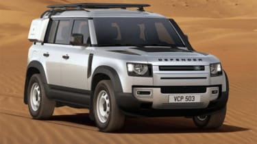 Alastair Crooks Land Rover Defender front