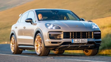 Porsche Cayenne Coupe Turbo GT - front cornering