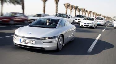 VW XL1 driving Doha