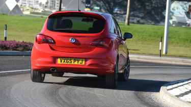 Vauxhall Corsa Red Edition - rear cornering