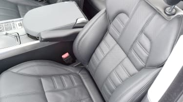 Leather seats are very comfortable in the Sport.