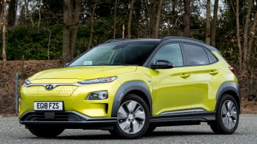 Hyundai Kona Electric front static