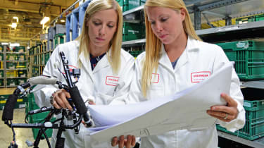 Honda's Swindon factory - Debbie Greening and Lowes Marsh